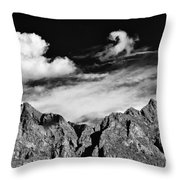 A Curl In The Sky Throw Pillow