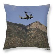 A Cv-22 Osprey Flies Over The 2007 Throw Pillow