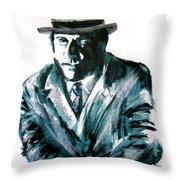 A Dapper Brit-portrait Of Ron Moody Throw Pillow