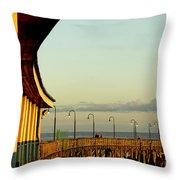 Playland Rye Beach Pier Throw Pillow