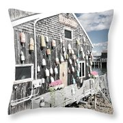 A Day In Bar Harbor Throw Pillow