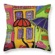 A Day In Paris Throw Pillow