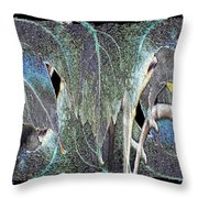 A Day In The Leaf Throw Pillow