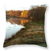 A Day In Time Throw Pillow