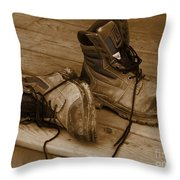 A Day's Work Done Throw Pillow