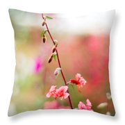 A Delicate Rise Throw Pillow