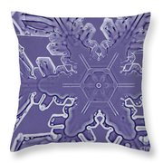 A Dendritic Snowflake Throw Pillow