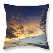 A Desert Horizon  Throw Pillow