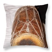 A Dholak Which Is A Musical Instrument  Throw Pillow