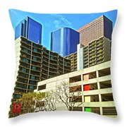 A Different Perspective On Downtown Los Angeles I Throw Pillow