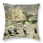 A Donkey Loaded With Medical Supplies Throw Pillow