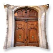 A Door In Arles Throw Pillow