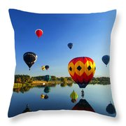A Dozen  Reflected Throw Pillow by Mike  Dawson