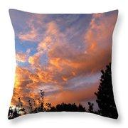 A Dramatic Summer Evening 2 Throw Pillow