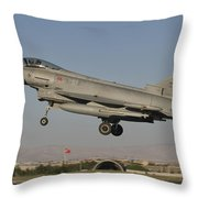 A Eurofighter F-2000 Of The Italian Air Throw Pillow