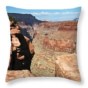 A Face In The Rock Throw Pillow