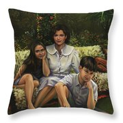 A Family Portrait Throw Pillow