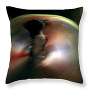 A Female Whirling Dervish In Capadocia Throw Pillow