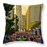 A Few People Showed Up Throw Pillow
