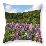 A Field Of Lupins Throw Pillow