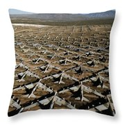 A Field Of Military Planes Throw Pillow