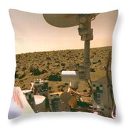 A Field Of Red Rocks Reaches Throw Pillow