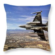 A Fighter Jet Breaks Right On A Final Throw Pillow