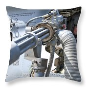 A Flight Engineer Prepares Throw Pillow