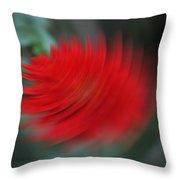 A Flower Spinning In A Tornado Like Effect Throw Pillow