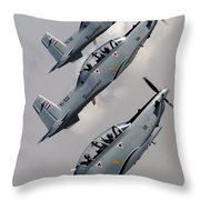 A Formation Of Iraqi Air Force T-6 Throw Pillow