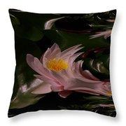 A Fractual Lily Throw Pillow
