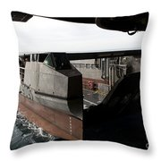 A French Landing Catamaran Prepares Throw Pillow