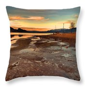A Frozen Shore Throw Pillow