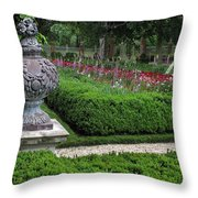 A Garden View Throw Pillow