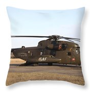 A German Ch-53gs Helicopter At Stendal Throw Pillow