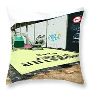 A Giant Sized Game Of Monopoly Throw Pillow