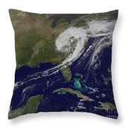 A Giant Swirl Of Clouds Throw Pillow