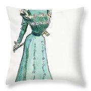 A Gibson Girl, 1899 Throw Pillow