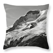 A Glacier In Jasper National Park Throw Pillow