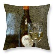 A Glass For Dinner Throw Pillow