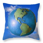 A Globe In The Sky Throw Pillow