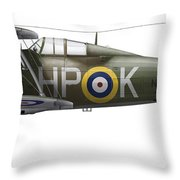 A Gloster Gladiator Mk II Throw Pillow by Chris Sandham-Bailey