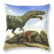 A Gorgosaurus Libratus Stands Throw Pillow