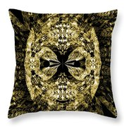 A Gothic Guise Of Gold Throw Pillow