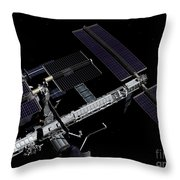 A Graphic Rendering Throw Pillow