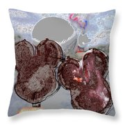 A Great Day At Epcot Throw Pillow