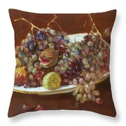 A Greek Summer Plate Throw Pillow by Ylli Haruni