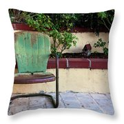 A Green Chair Throw Pillow