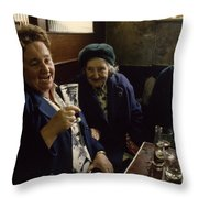 A Group Of Old Friends Gathers Throw Pillow