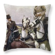 A Handsome Pair. Illustration By Lucy Throw Pillow